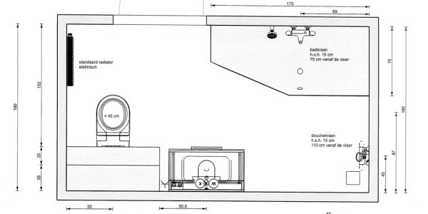 blankestijn loodgieter woerden technische tekening sanitair